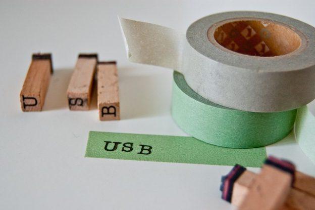 Maskeringstejp som används som etiketter